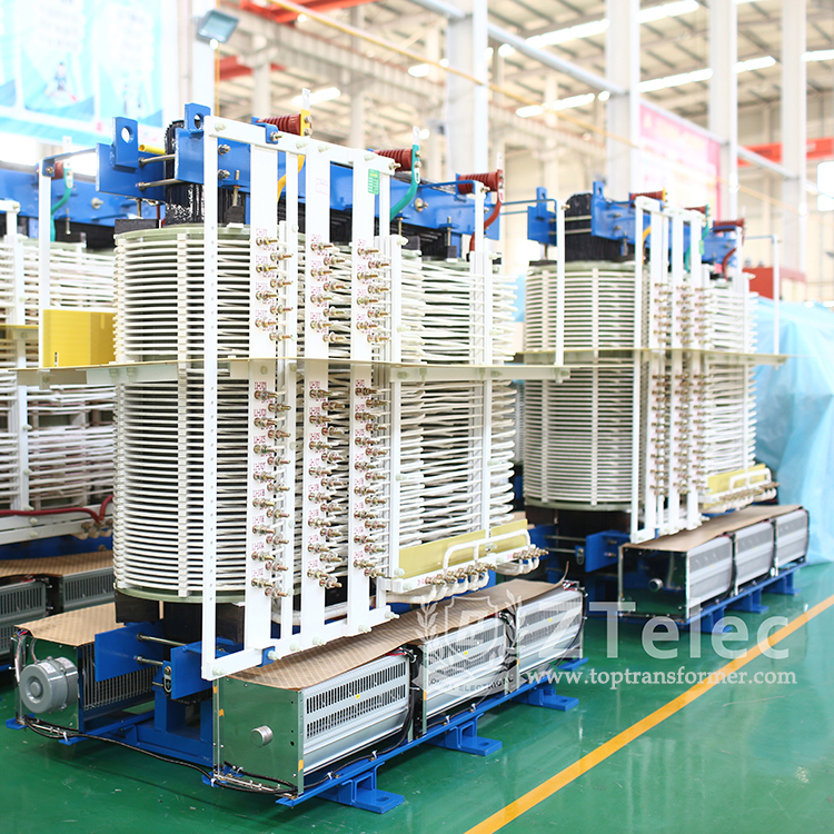 Multi-pulse rectifier transformer for high-voltage inverter