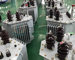 fully sealed three-phase oil-immersed transformer with chip radiator